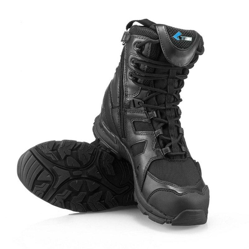 2019 New Style Military Tactical Combat Outdoor Sport Army Men Boots Desert Botas Spring Autumn Shoes Travel Leather High Boots High Quality Bettelarmbänder & Anhänger Uhren & Schmuck