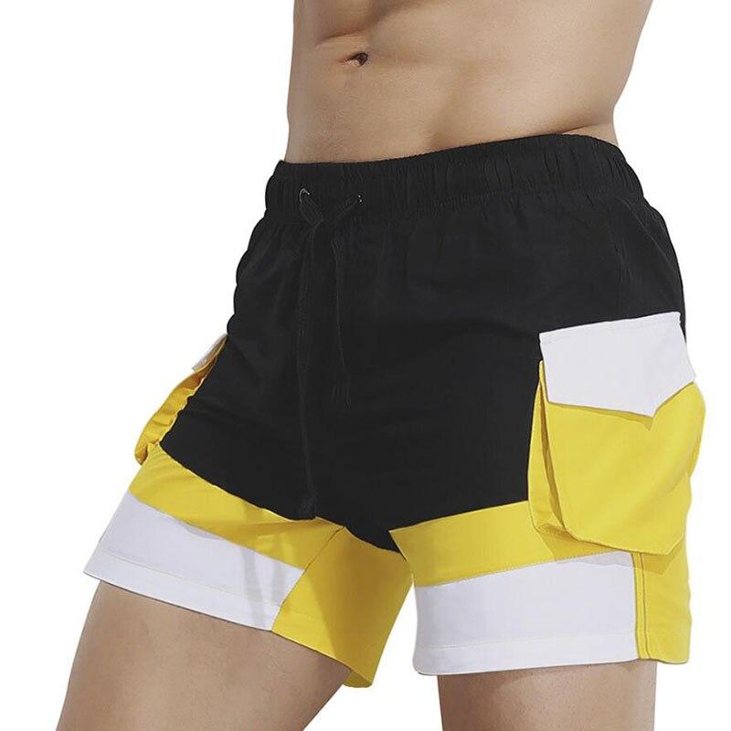 KWAN.Z men's   board     shorts   swimwear fashion men's beach   shorts   side pocket sea   short   homens swimsuit 2018 stroj kapielowy men