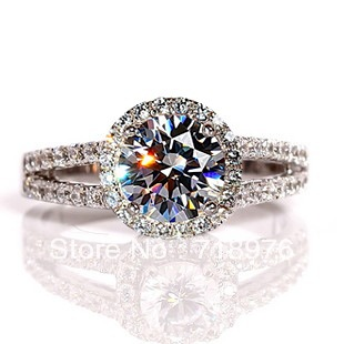 Luxus schmuck   Luxus Schmuck 14 Karat Gold 0,5 Carat Lab Grown Moissanite Mit ...