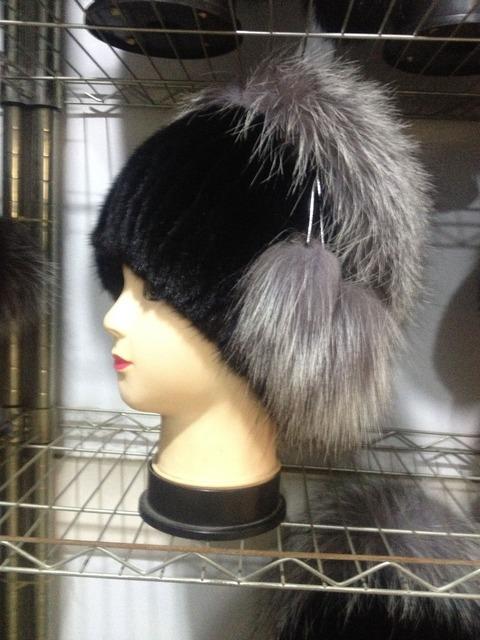 Atacado real free shopping moda pele de vison tampão da raposa