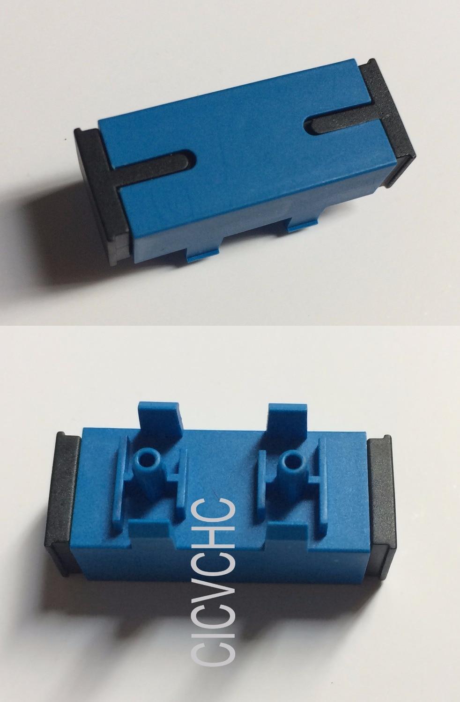 50pcs SC-use for Optical Modem-with Pin-Blue/Optical Fiber Adapter