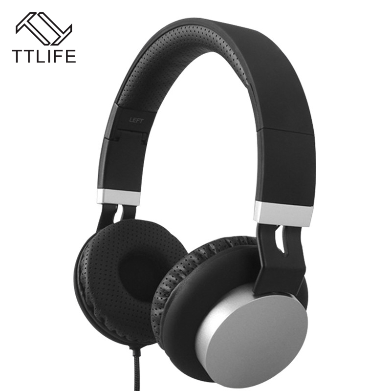 2017 TTLIFE Brand Stereo Foldable Headset 3.5mm Wired Headphones Earphone Earbud with Microphone for Phones Samsung HTC Xiaomi cute cartoon for skeletons stars baymax foldable wired headwear headphones earphone headset durable random color