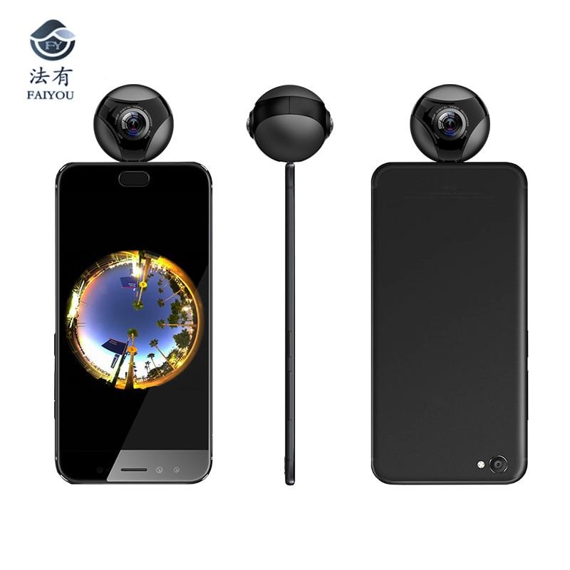 Fisheye double Lenes VR caméra panoramique HD H.264 téléphone OTG type-c caméra système de Surveillance de sécurité à domicile caméra seulement Android