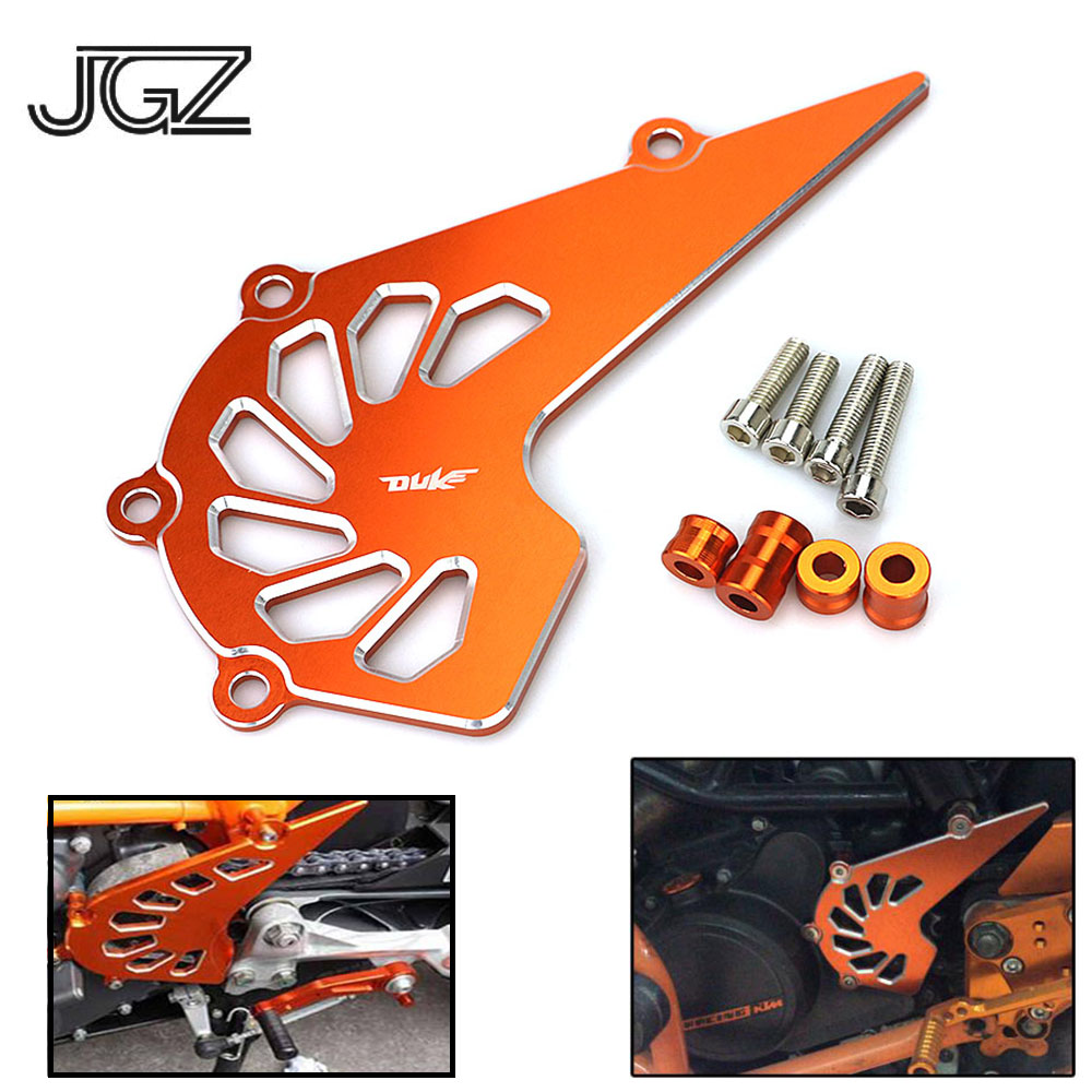 Orange Motorcycle CNC Aluminum Front Sprocket Chain Cover Guard Protect Accessories For KTM Duke 125 200 390 2013 2014 2016-2018