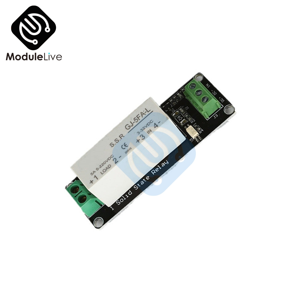 1 Channel Dc 5v 220v 5a Ssr Solid State Relay Module Board High Low German Level Trigger For Arduino Uno R3 One Switching Transistor In Relays From Home