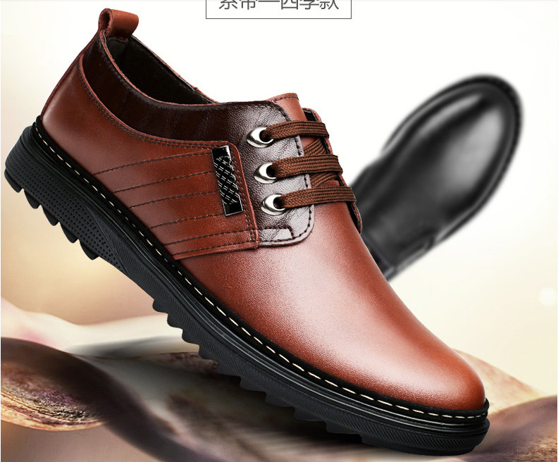 In stock High Quality Genuine Leather Shoes Men Lace Up Wedding Shoe Men Dress Shoes British