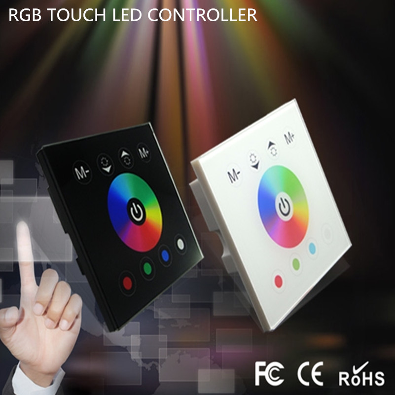 Wireless led rgb controller touch screen panel full color dimmer wireless led rgb controller touch screen panel full color dimmer control for rgb led strip light 4channels rgb led 24g aloadofball Gallery
