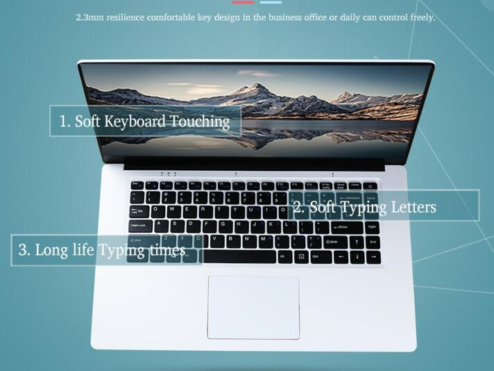 15.6 inch 6gb ram 64gb intel cpu free windows 10 system wifi bluetooth ultrathin laptop notebook pc computer