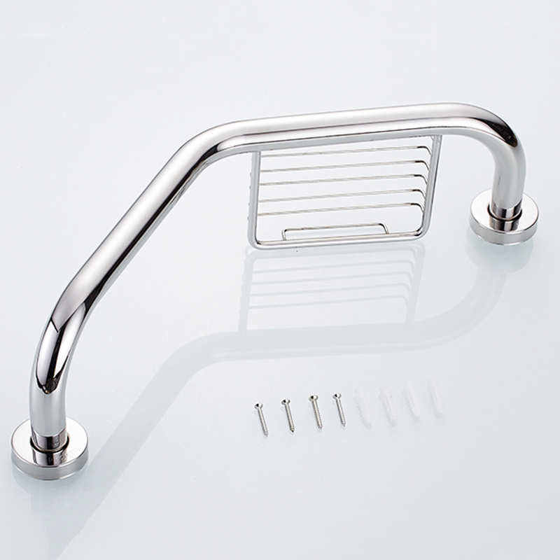 Stainless Steel Wall Mount Bathroom Bathtub Handrail With Soap Dish Grab Bars Disability Aid Safety Helping Handle In From Home Improvement On