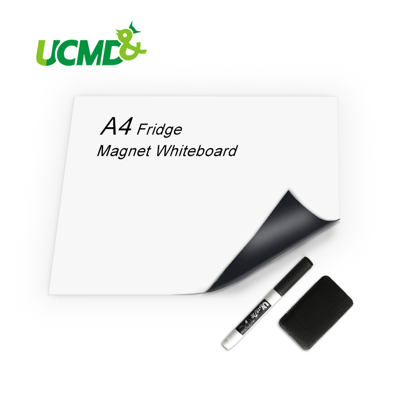 A4 Flexible Mini Whiteboard For Fridge Message Board For Refrigerator Memo Pad Magnetic Notes