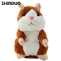 ZhenDuo Talking Hamster Mouse Pet Plush Toy Hot Cute Speak Talking Sound Record Hamster Educational For