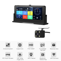 4G Android Rearview Mirror Car DVR ADAS WiFi Dash Cam Car styling Detector Dual Camera Bluetooth GPS Navigation Auto Registrator
