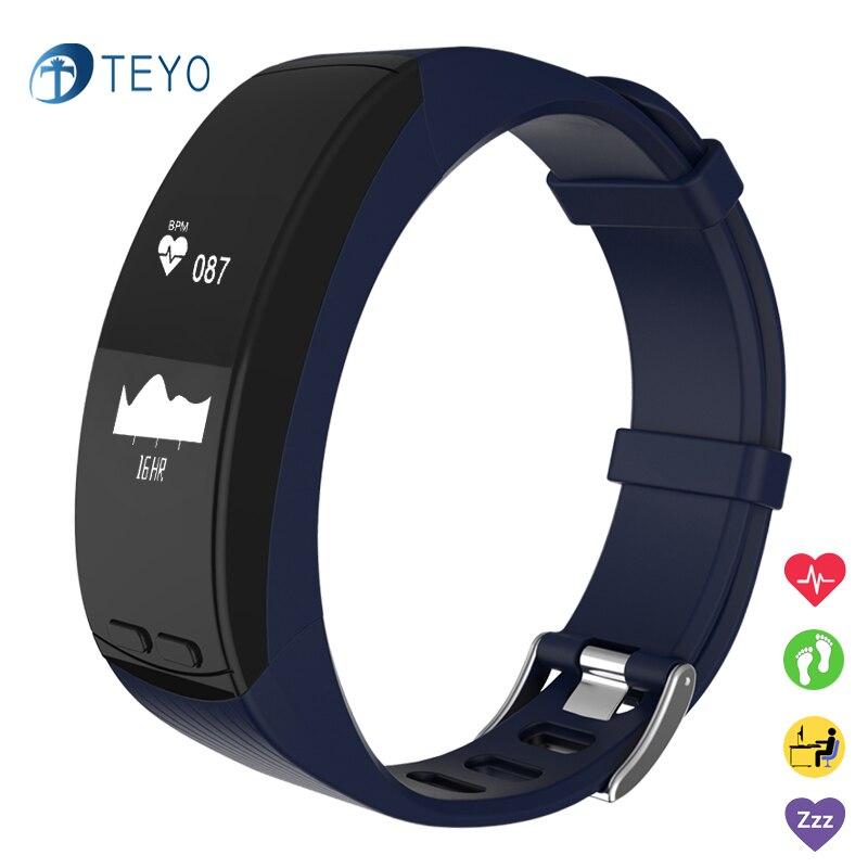 Teyo GPS Smart Band P5 Heart Rate Monitor Fitness Tracker Bracelet Pedometer Watch Calender Bracelet Smart Wristband Android IOS smart bracelet waterproof dw06 android watch gps sport band fitness tracker heart rate monitor pedometer wristband for men women