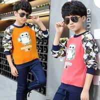 Male child t shirt long sleeve t shirt child 8 basic shirt 10 child cartoon 9 children's clothing autumn and winter 12