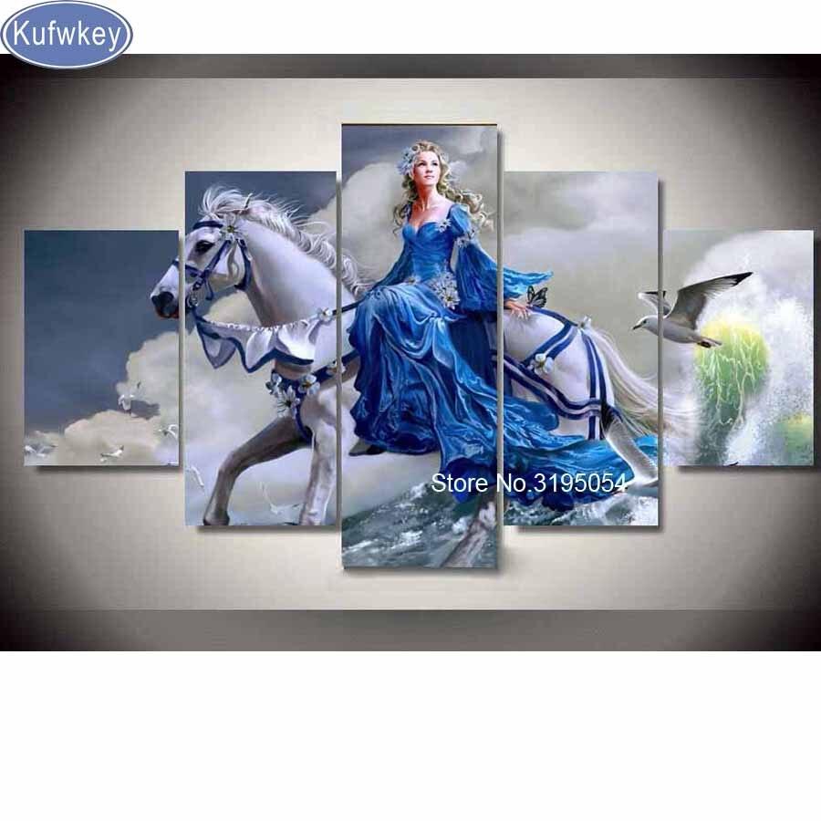 5 avions, plein carré 5D bricolage diamant peinture conte de fées village, 3d, diamant broderie point de croix, mosaïque, autocollants, noël, art