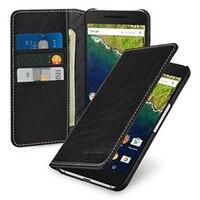 Premium Flip Folio Genuine Leather Case For Google Nexus 6P Wallet Card Holder Phone Cover Vag