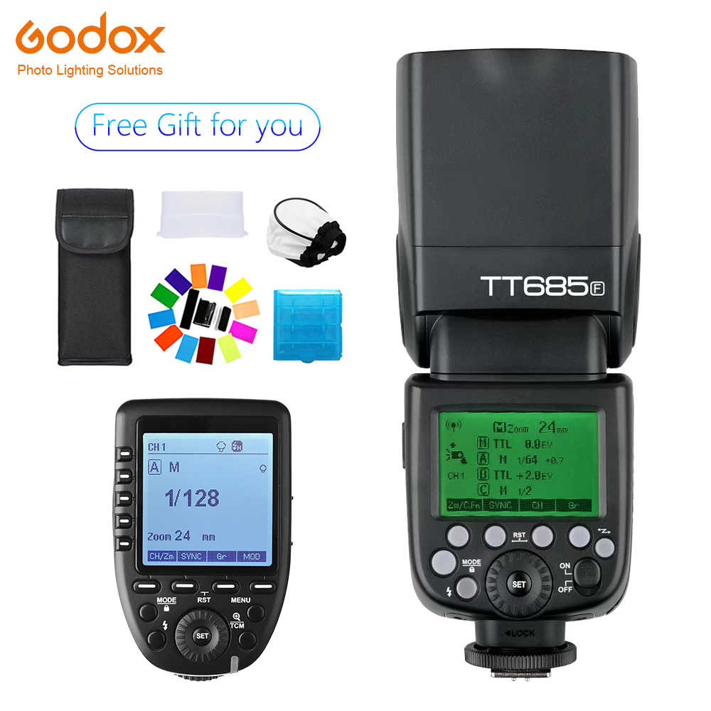 Godox TT685 TT685F Speedlite Flash Wireless TTL+Xpro-F Trigger forFujifilm Camera  X-Pro2/X-T20 /X-T1/X-T2