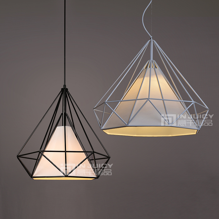 Vintage Style Diamond Design Industrial Metal Ceiling Lamp Light Pendant Home Cafe Dinning art deco vintage industrial metal wire cage pendant light guard rustic ceiling mounted lamp cafe pub hotel porch bar