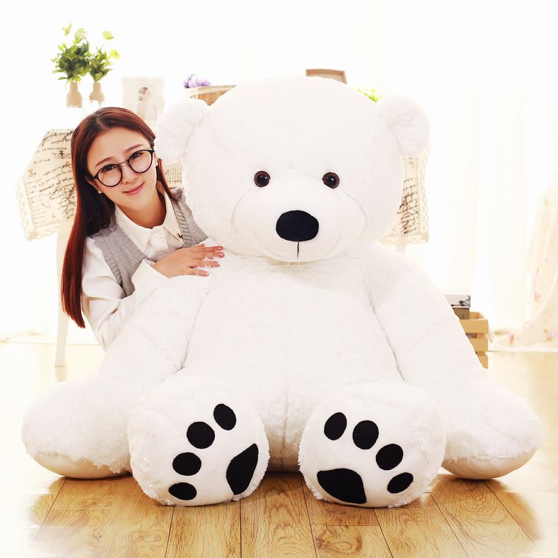 stuffed toy , huge 125cm white polar bear doll plush toy , soft hugging pillow toy surprised birthday gift h2911 stuffed animal 120 cm cute love rabbit plush toy pink or purple floral love rabbit soft doll gift w2226
