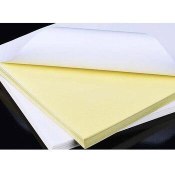 50 Lenzuola A4 Bianco Autoadesivo Etichetta Adesiva Opaca Superficie Di Carta Copriletto Per Getto D'inchiostro Stampante Laser Copiatrice Carta Artistica E Per Hobby