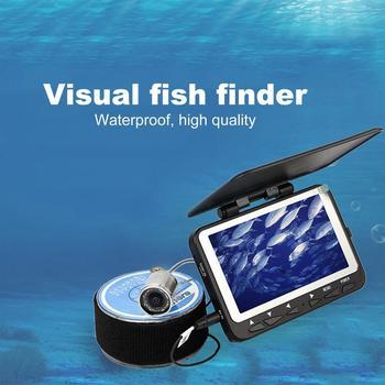 "15/30M Infrared Fish Finder Camera Underwater 1000TVL Ice Fishing Camera Video 4.3"" Monitor 8 IR LED Sunvisor"