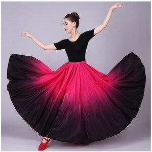 Image 2 - 720 Göbek Çingene Etek Oryantal Dans Fırfır Flamenko Etek Yeni Oryantal Dans Büyük Etekler Oryantal dans eteği Flamingo Kostüm B 6832