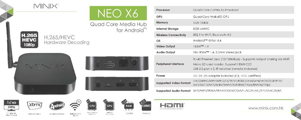 NEO X6 Spec Sheet
