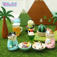 Wedding Couple Action Figures Decole Cat Model Animation Miniature Figurines home Garden Wedding Doll Decoration Girl toy gift недорого
