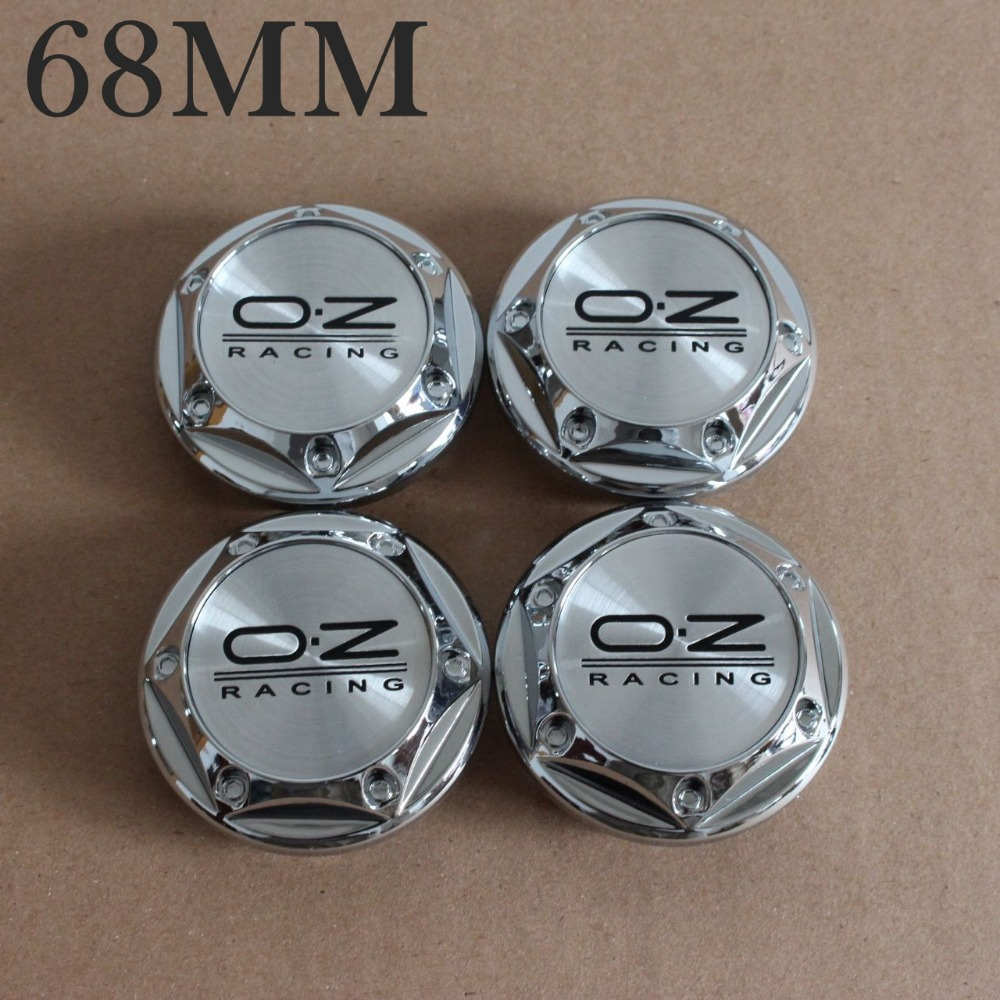 Car-Styling KOM POWER 4pcs 68mm OZ Wheels Caps OZ Logo Wheels Sticker Emblem OZ Racing Caps Wheel Covers Cap Center Hubs Caps oz