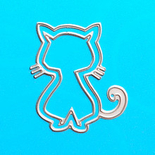YINISE 093 Cat Metal Cutting Dies For Scrapbooking Stencils DIY Cards Album Decoration Embossing Folder Template Die CUTS Cutter(China)