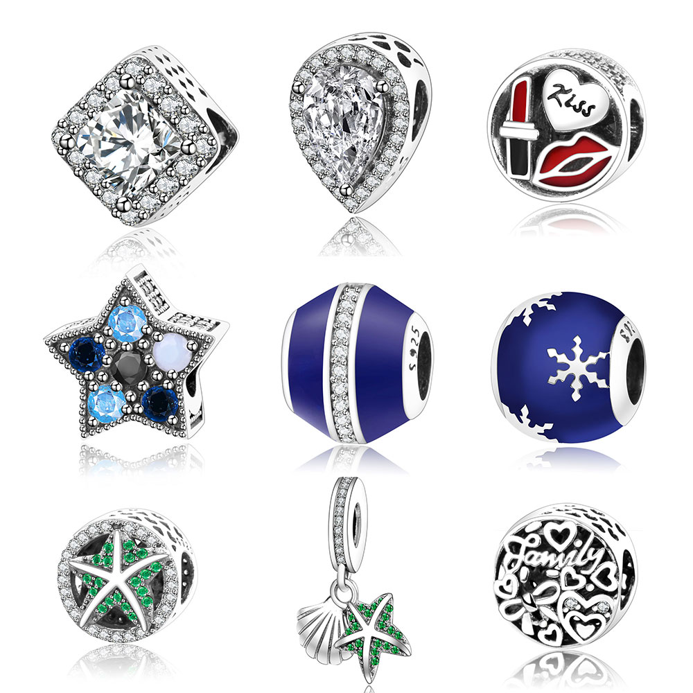 2017 Winter Style Crystalised 925 Sterling Silver Charms Christmas Gift Fit  Original Pandora Bead Charm Bracelet