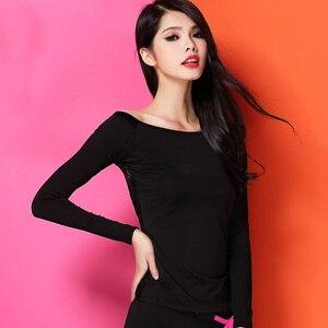 Image 3 - 最新のファッションエレガントな社交セクシーなレースラテンダンスの服トップ女性用/femalelady 、長袖 dancewears 衣装 y809
