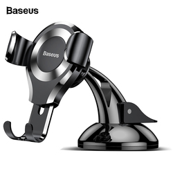 Baseus Gravity Автомобильный держатель для телефона для iPhone X samsung S10 присоска Автомобильный держатель для телефона в автомобиле держатель для моб...