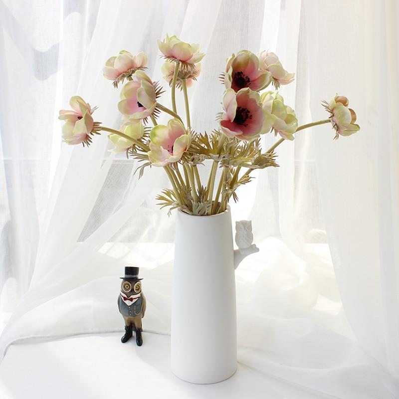 INDIGO- 9tk PU anemone pasque kollane daisy lill kodu pruut pulm - Pühad ja peod - Foto 2