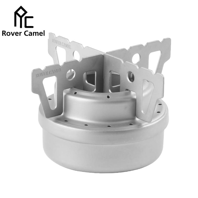 Rover Camel Portable Camping Hiking Titanium Mini Liquid Alcohol <font><b>Stove</b></font> Picnic <font><b>Stove</b></font> with Rack WST013