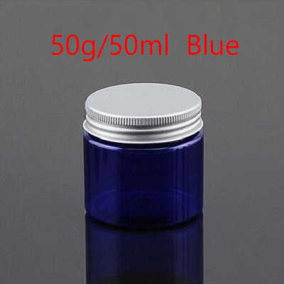 626cac0e6e3f 20pcs/lot 50g Clear Empty Cosmetic Jar Pots Travel Face Cream Lotion Makeup  Containers Aluminium Cap Plastic PET Storage Jars