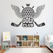 Originality Golf Club Wall sticker removeable Vinyl mural Room Decoration for wall glass decal Sport Quotes G942