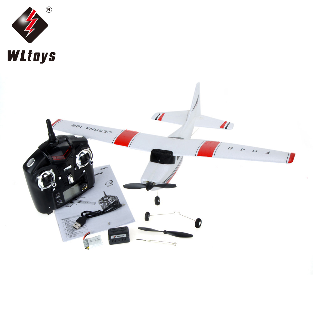 1pcs WLtoys F949 Mini Cessna 2.4G 3CH RC Airplanes 3CH Cessna 182 2.4G RC plane for beginners
