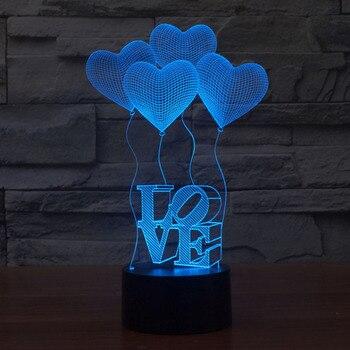משלוח חינם עיצוב פנטסטי 3d דקור אני אוהב אותך לעצב יצירתי לילה אור מנורה מגניב כמתנת ולנטיין