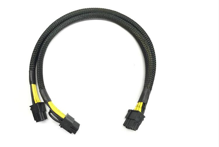 8pin to PCI-E PCIe 8pin+6pin GPU Video Card Power Sleeve Cable Cord 18AWG for DELL PowerEdge R720 6pin+8pin 35cm
