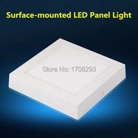 30 шт./лот затемнения светодиодный потолочный светильник 6 Вт/12 Вт/18 Вт квадрат (или круглые) белый AC110V 220 В светодиод для поверхностного монта...