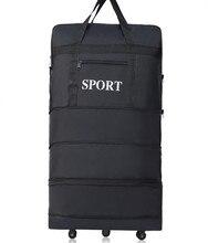 ZIRANYU Новый Большой емкости Три Уровня Расширяемый складной ткань Оксфорд Сумка универсальная колеса Груз самолетом дорожный багаж, сумки