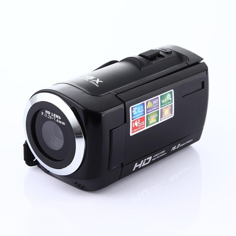 ELRVIKE HD 1080P caméra numérique HDV caméra vidéo caméscope 16MP 16x Zoom COMS capteur 270 degrés 2.7 pouces TFT LCD écran