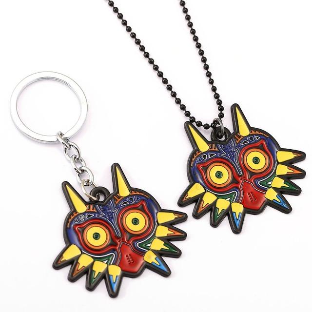 The Legend of Zelda Choker Necklace Multicolor Majora Mask Pendant Men Women Gift Game Jewelry Accessories