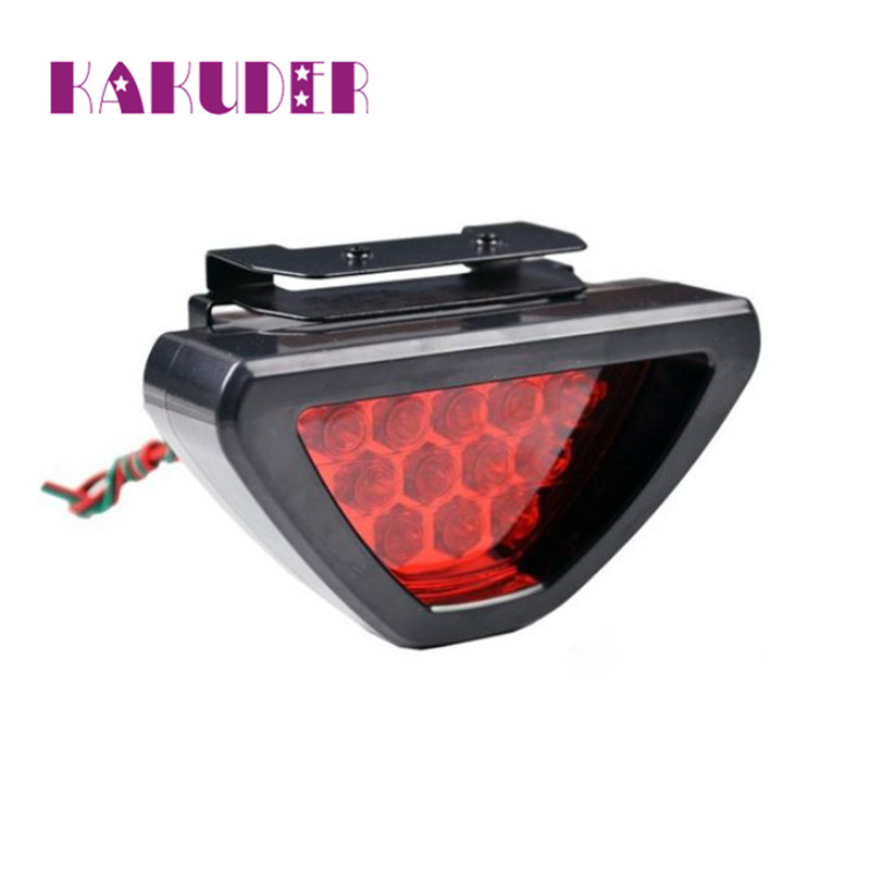 NEW Universal F1 Style Car ATV SUV 12V LED Stop Fog Tail Brake Light Lamp Red Luz Ligero quality NEW HOT 17may29