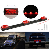 Castaleca NEW Truck Trailer Rear Brack Lights Red Clearance Side Marker Lamp Bar 9 LED For
