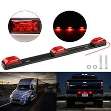 castaleca NEW Truck Trailer rear brack lights Red Clearance side Marker Lamp Bar 9 LED For Pickup Truck RV CAR 12V