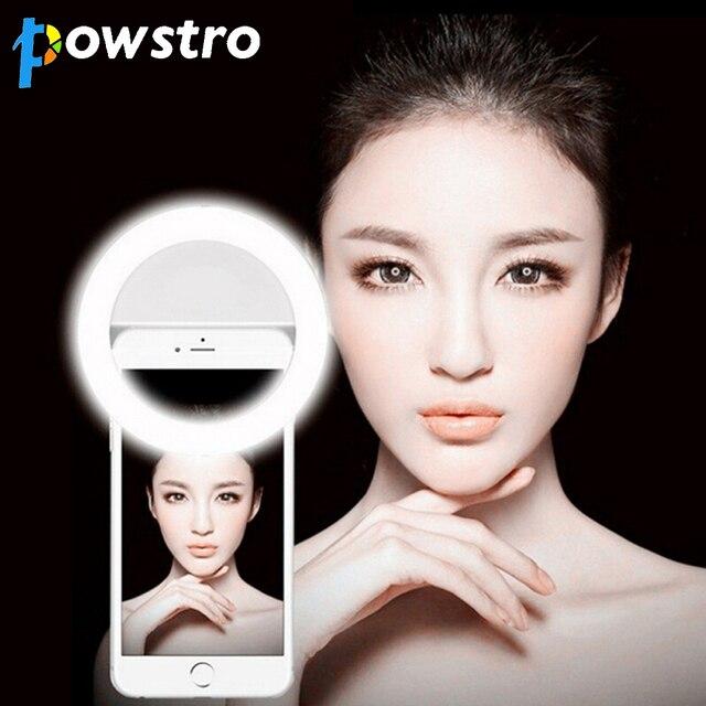 Selfie LED Light Up Flash Light Photography Luminous Ring Light 36pcs LED 3 Brightness Levels Clip on All Mobile Phone