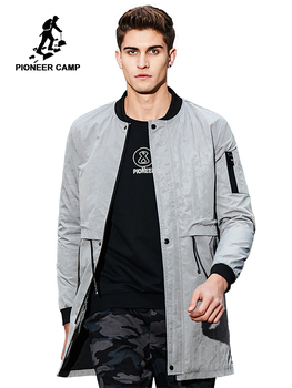 Pioneer Camp 2018 New arrival Spring trench coat men brand clothing fashion mens long coat top quality male overcoat AJK707010