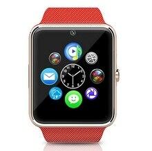 Smart Watch Sync Notifier Unterstützung Sim-karte Bluetooth Sport Pedometer Freisprecheinrichtung Smartwatch Armband für Android-Handy Wandern